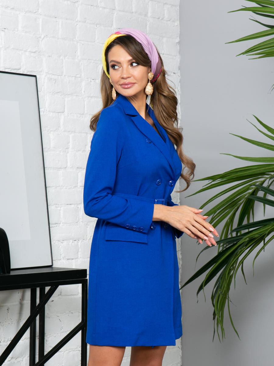 Платье L297 цвет: ультрамарин