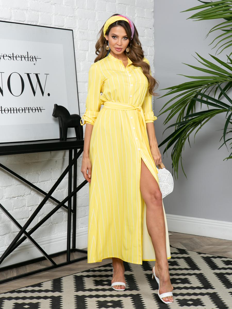 Платье L290 цвет: желтый