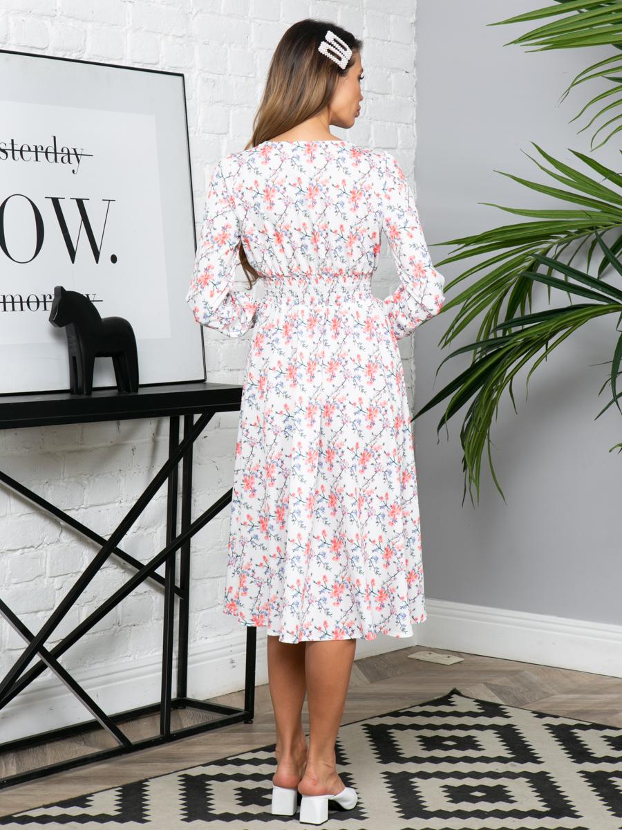 Платье L293 цвет: белый