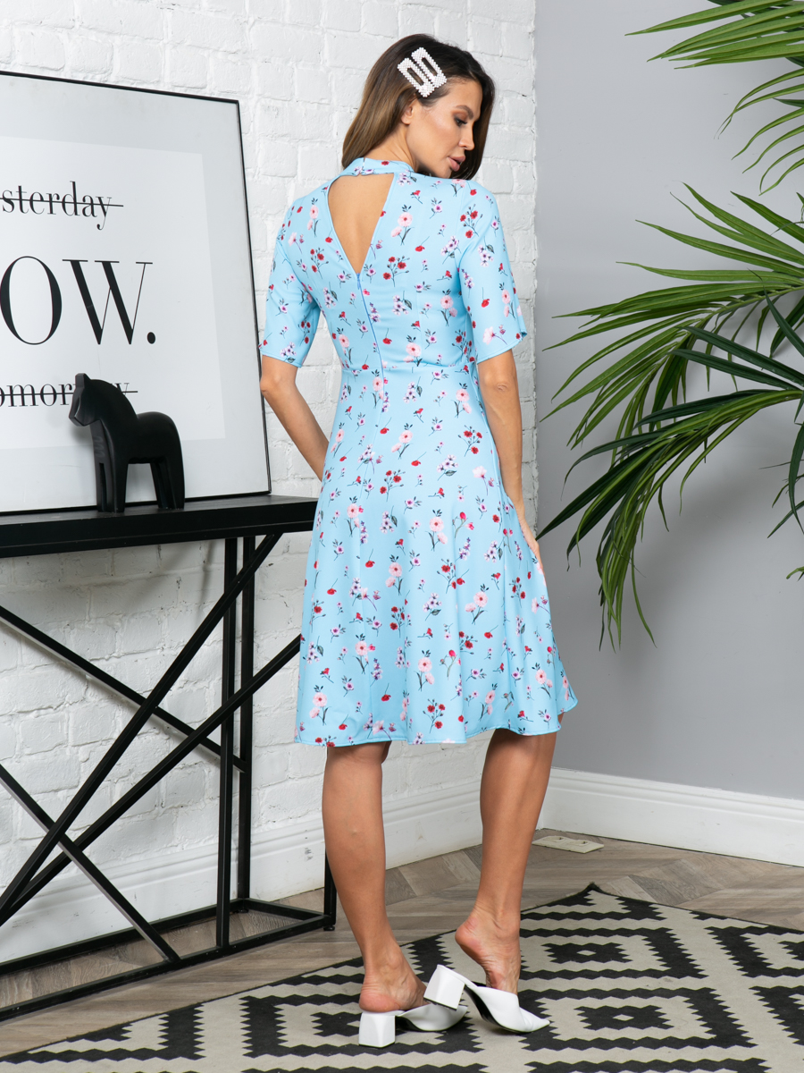Платье L296 цвет: голубой