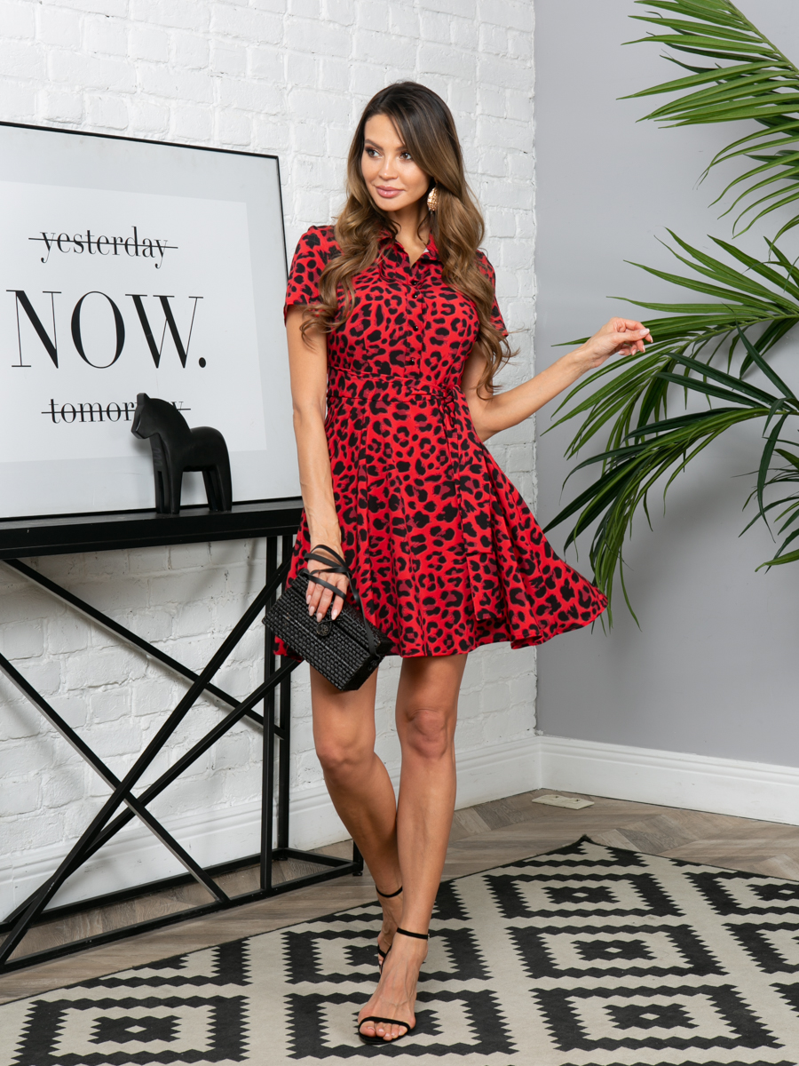 Платье L291 цвет: красный