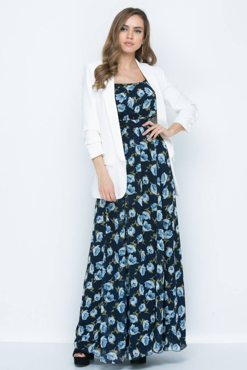 Платье L145 цвет синий
