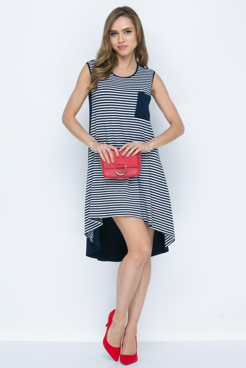 Платье L146 цвет сине-красный