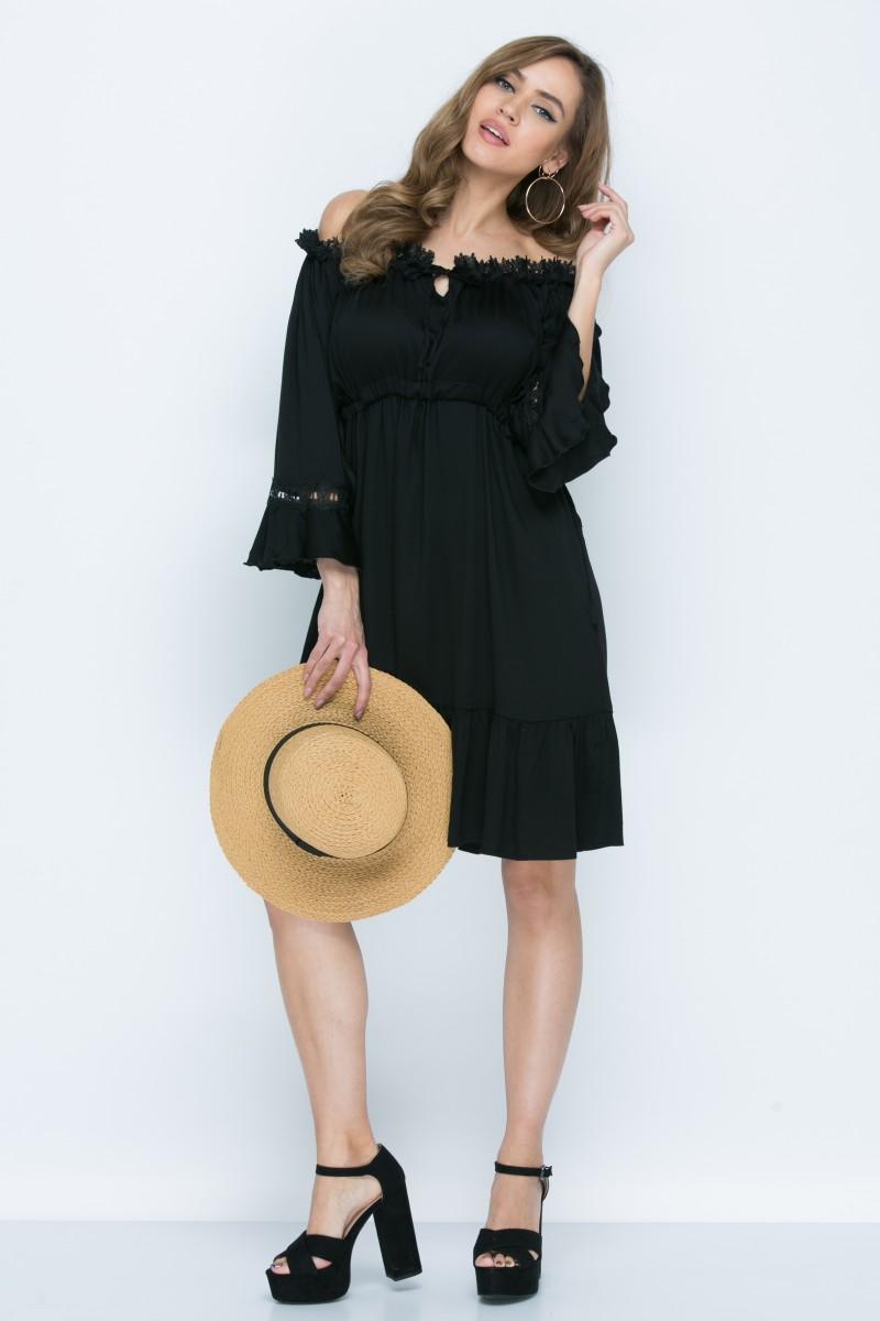 Платье L142 цвет черный
