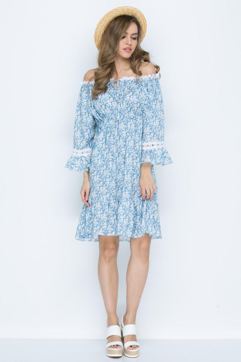 Платье L142 цвет голубой