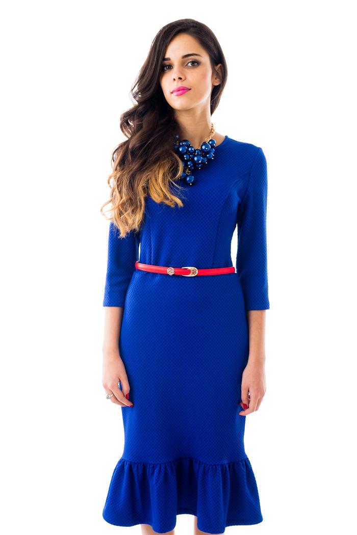 087 Платье синие
