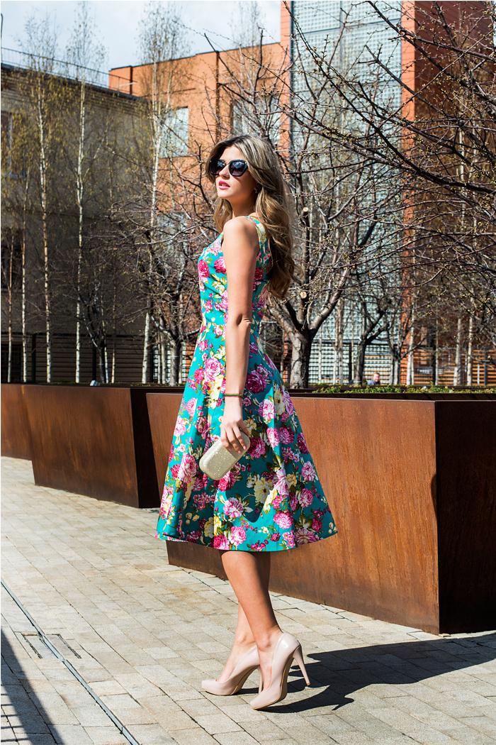 032 Платье-сарафан миди бирюзовый