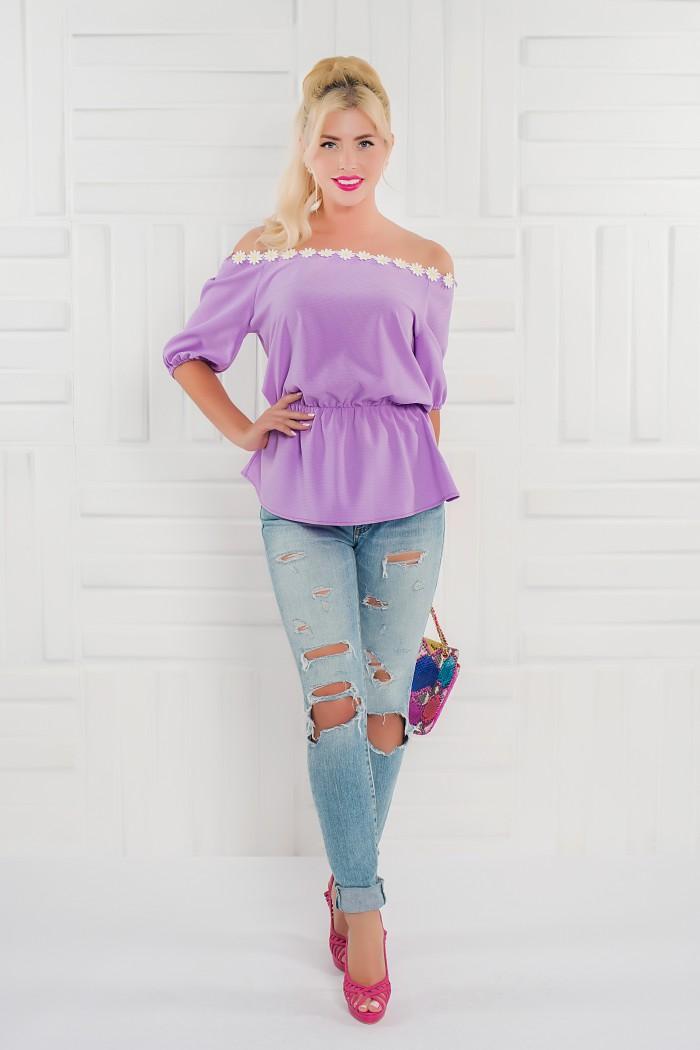 095 блузка лавандовая