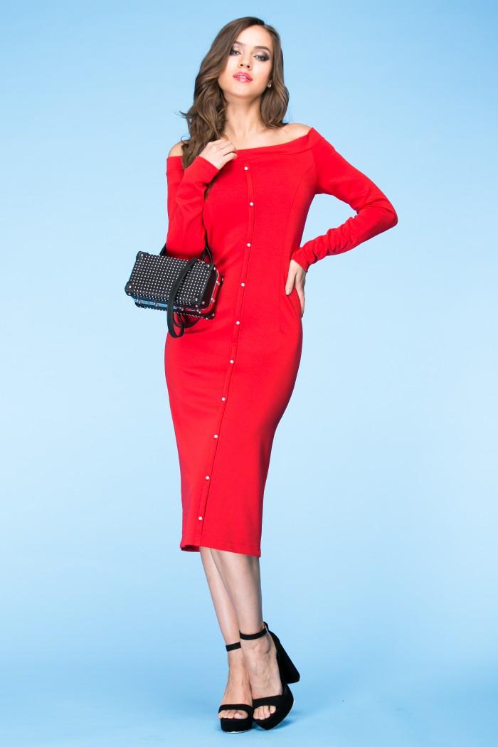 072 Платье красное