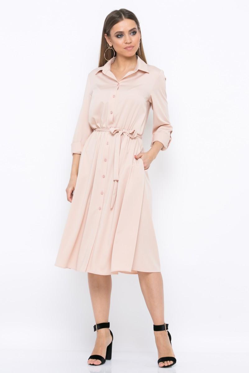 Платье V219 цвет бежевый