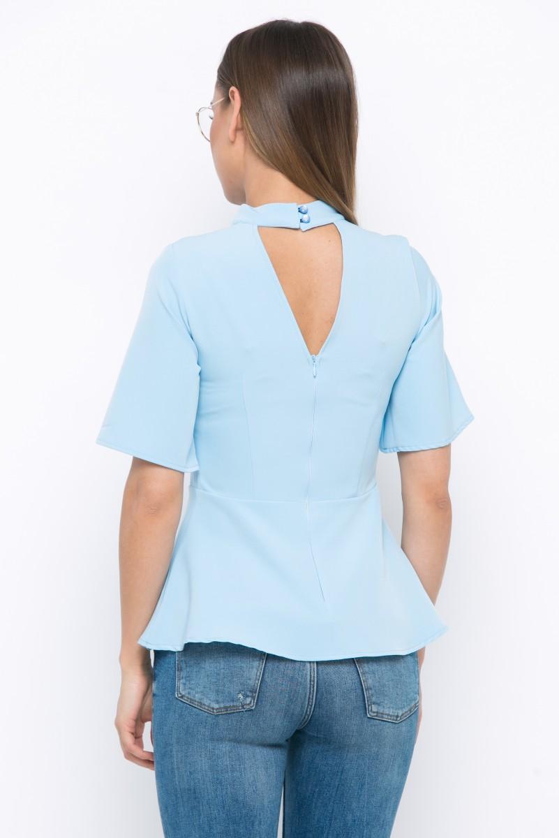 Блузка V198 цвет голубой