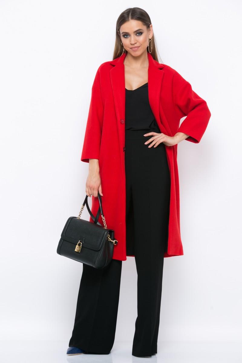 Пальто V164 цвет красный
