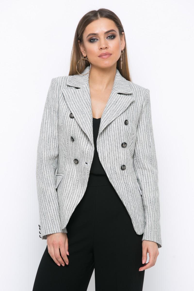 Жакет V212 цвет черно-белый