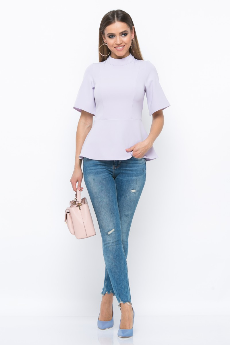 Блузка V198 цвет св.лиловый