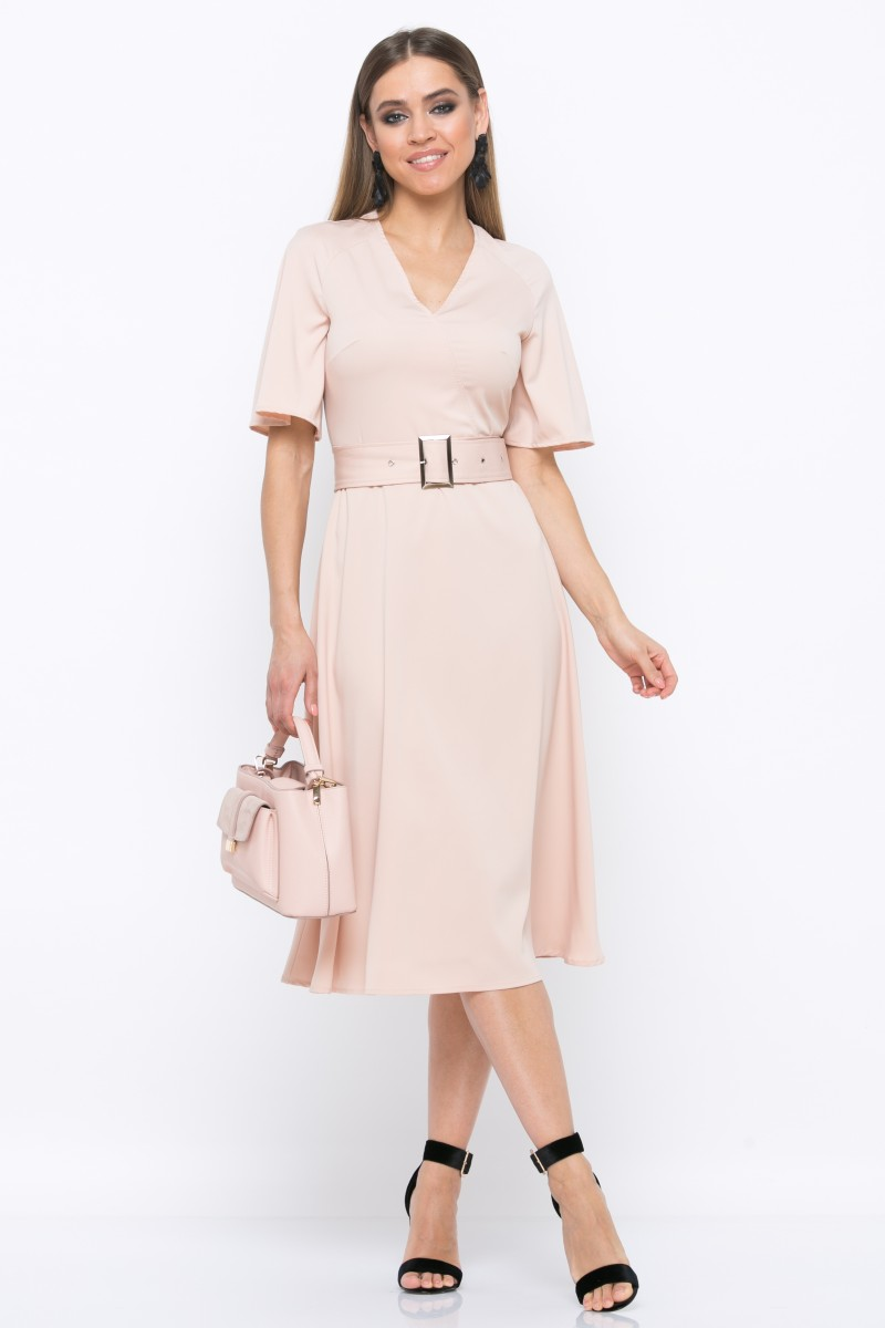 платье V213 цвет бежевый