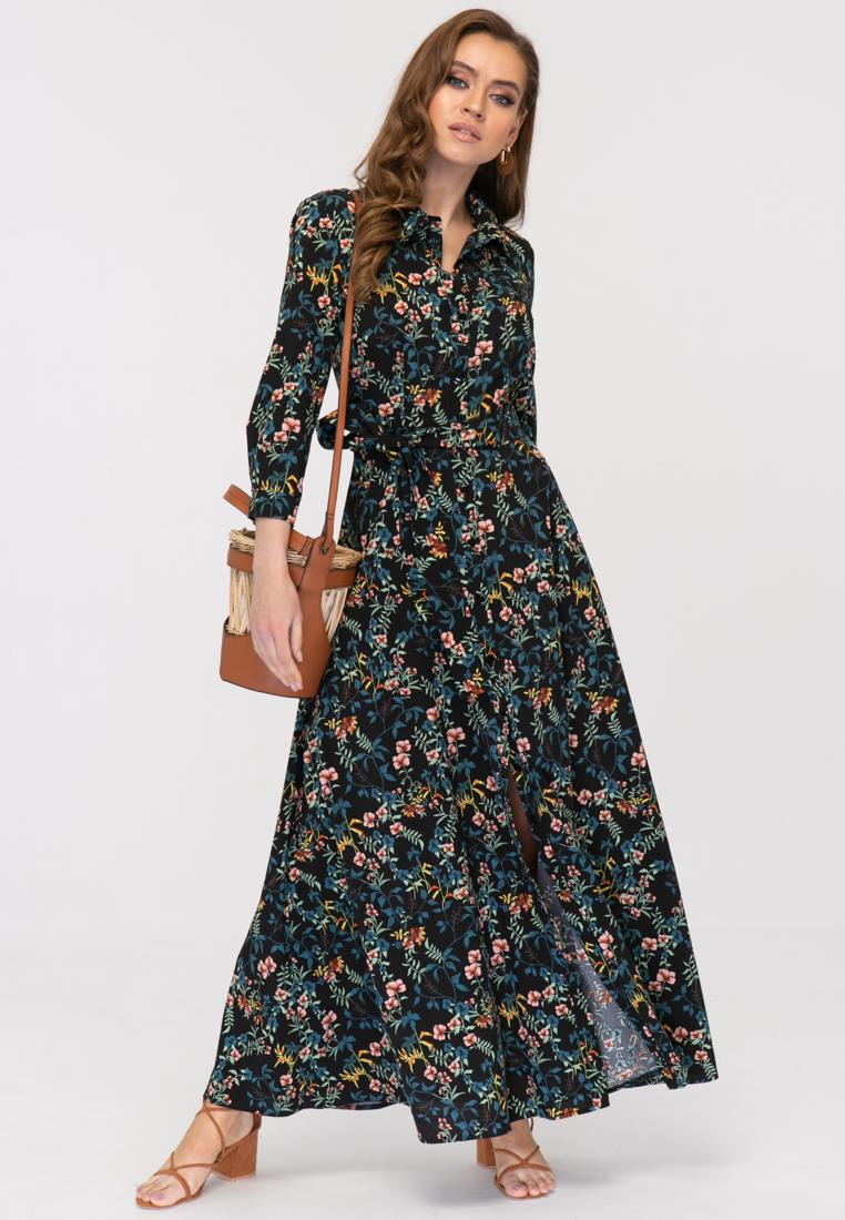 Платье L387 цвет черный