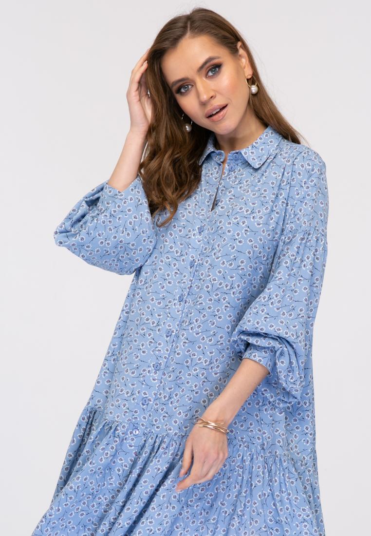 Платье L385 цвет голубой