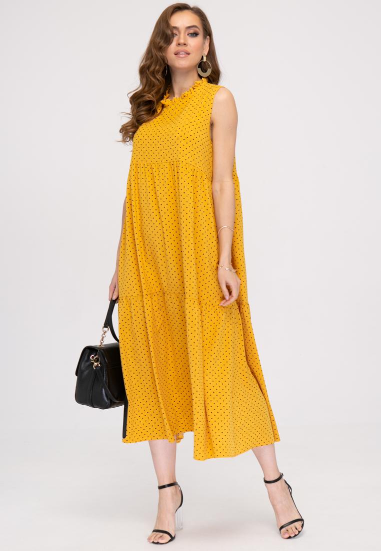 Платье L389 цвет желтый
