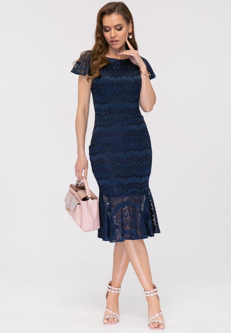 Платье L390 цвет синий