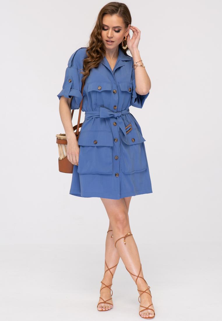 Платье L394 цвет синий