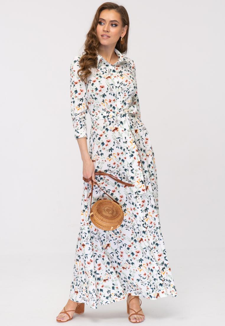 Платье L387 цвет белый