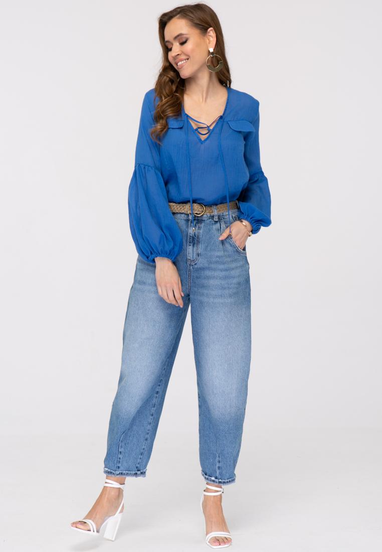 Блузка L380 цвет синий