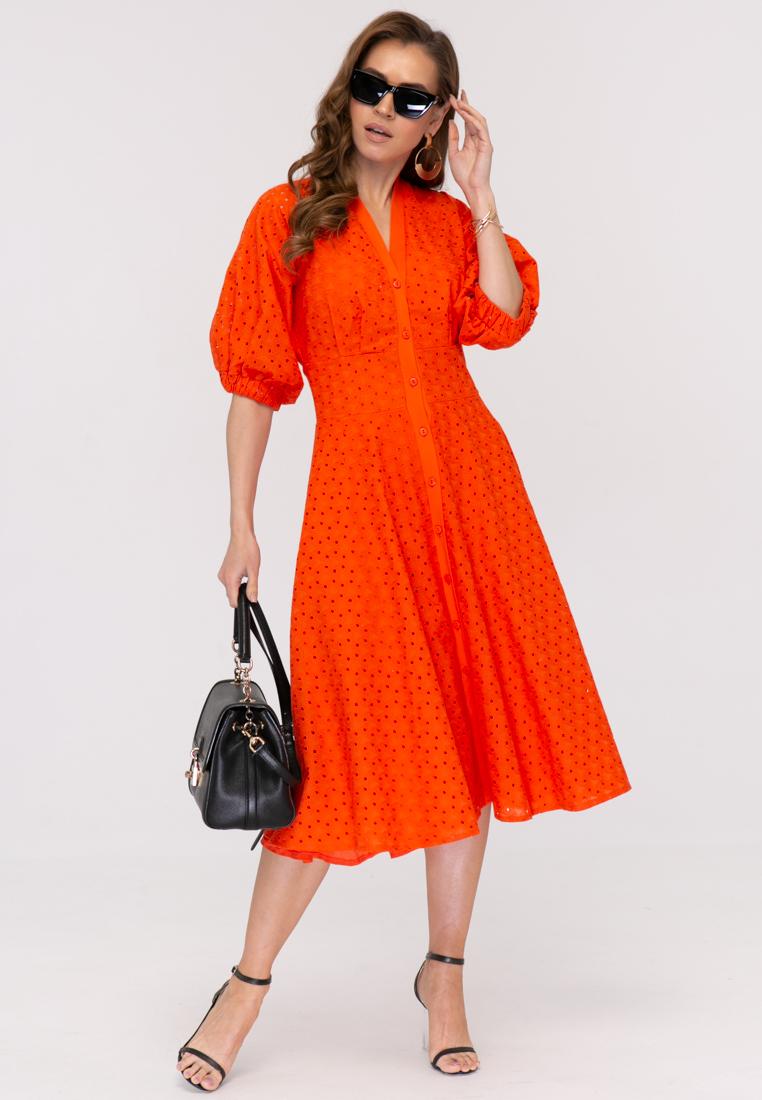 Платье L386 цвет оранжевый