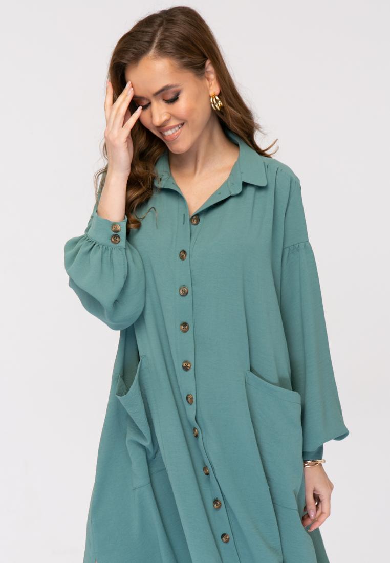 Платье L384 цвет зеленый