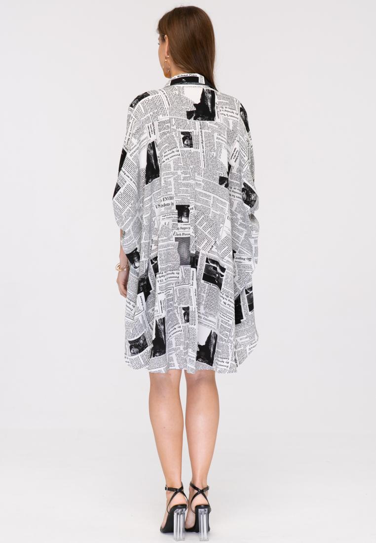 Блузка L393 цвет черно-белый