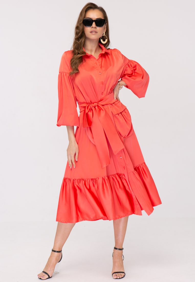 Платье L383 Цвет коралловый