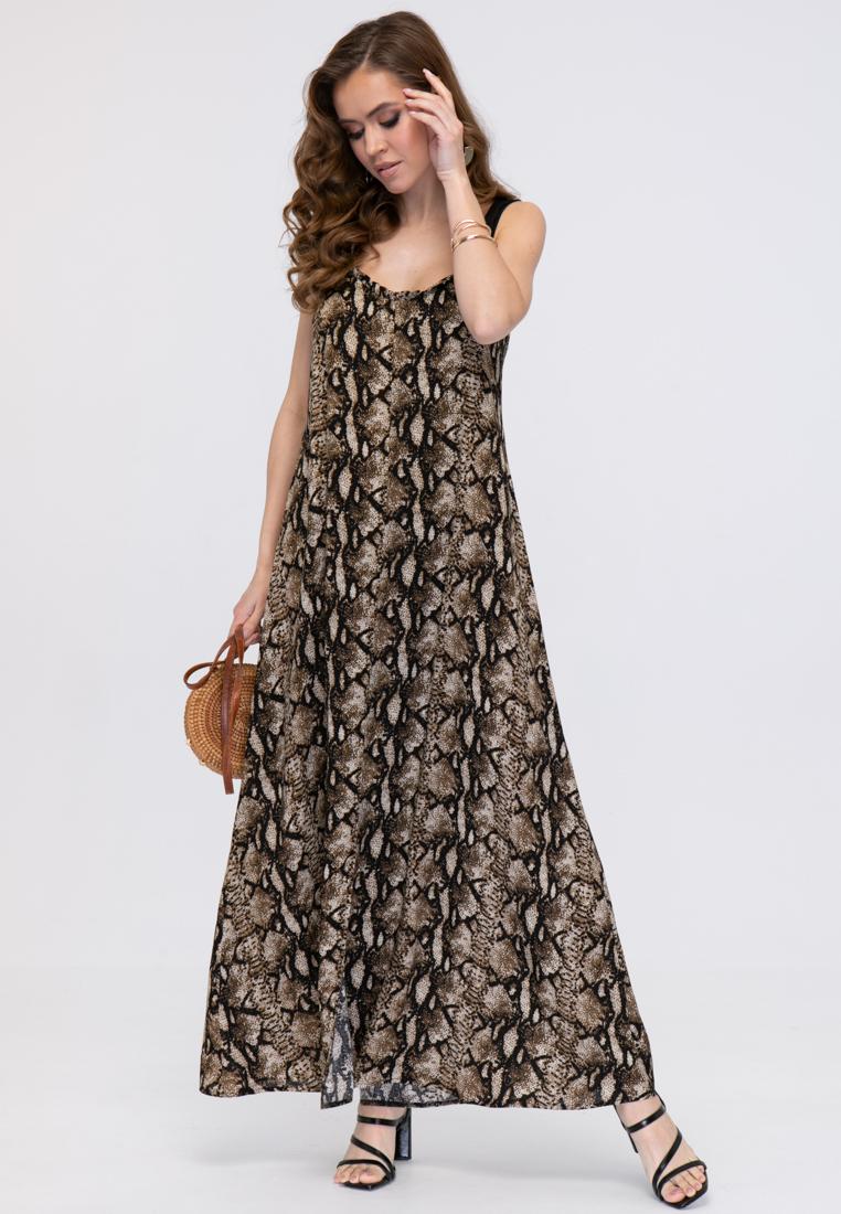 Платье L388 цвет коричневый
