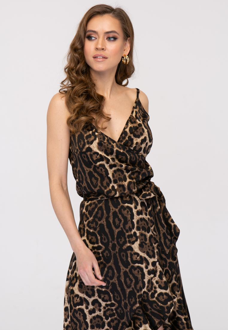 Сарафан L392 цвет коричневый