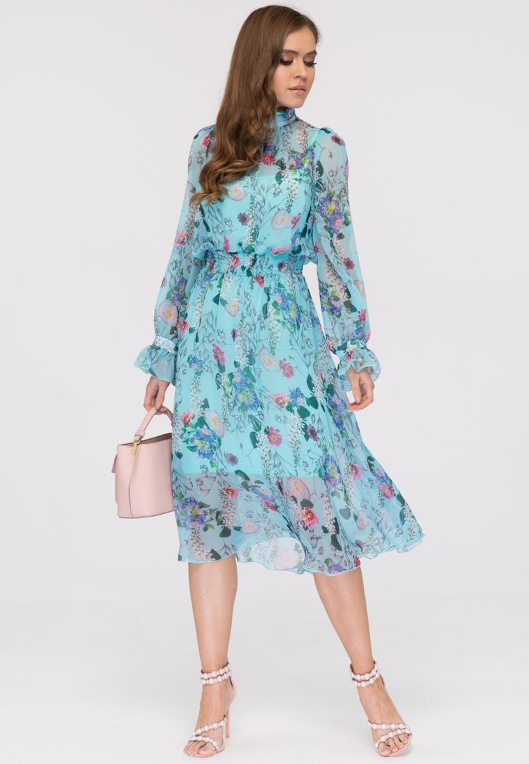 Платье V363 цвет бирюзовый