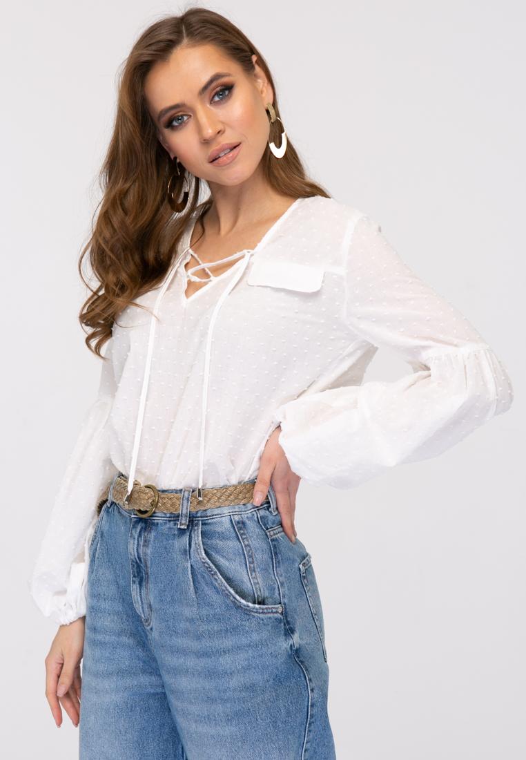 Блузка L380 цвет белый