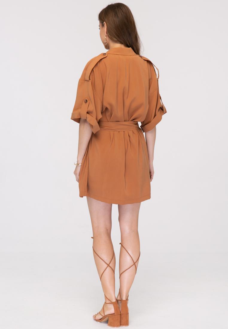 Платье L394 цвет коричневый