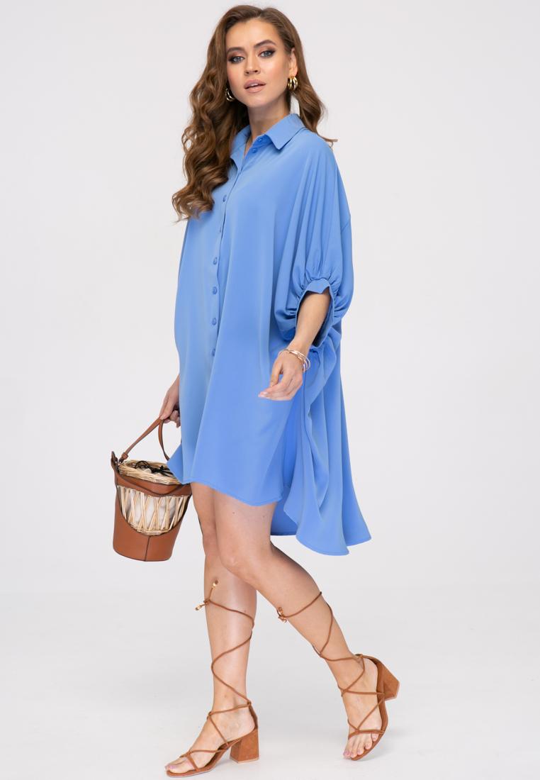 Блузка L393 цвет голубой