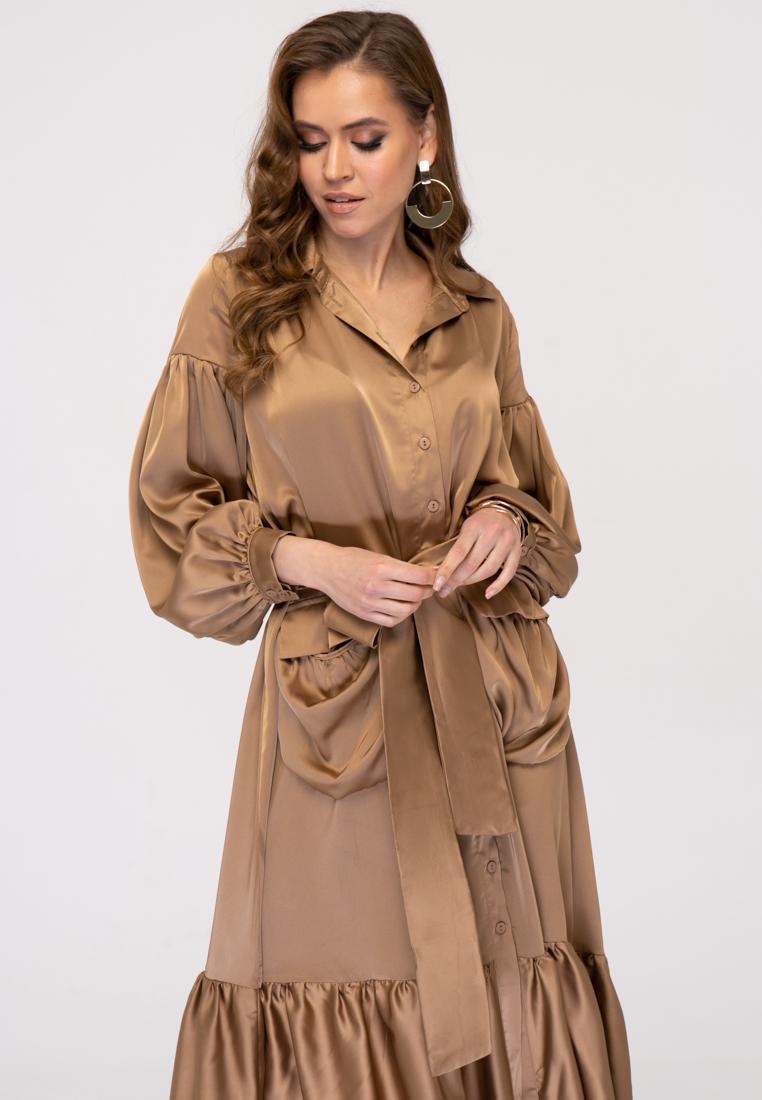 Платье L383 цвет бежевый