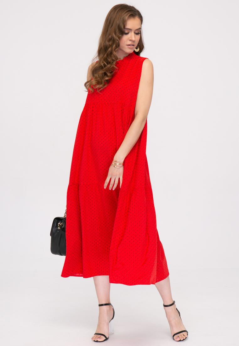 Платье L389 цвет красный