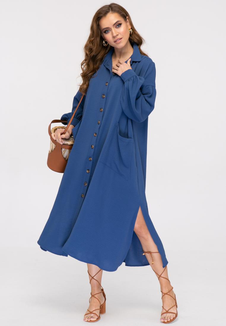 Платье L384 цвет синий