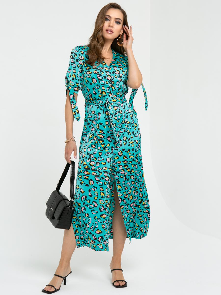 Платье l442 цвет: ментоловый