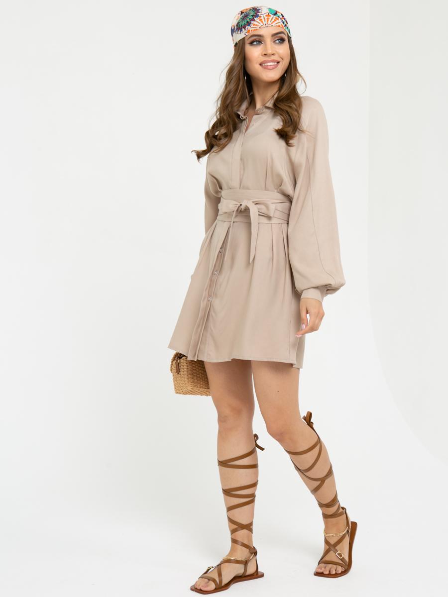 Платье L444 цвет: бежевый