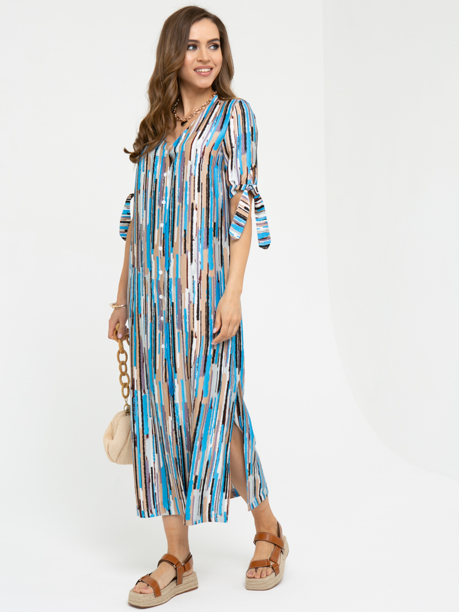 Платье L442 цвет: голубой