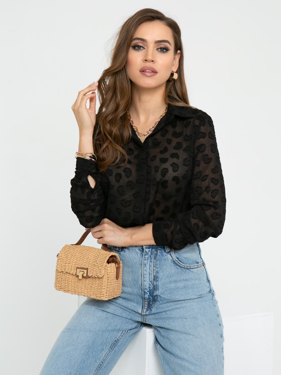 Блузка L450 цвет: черный