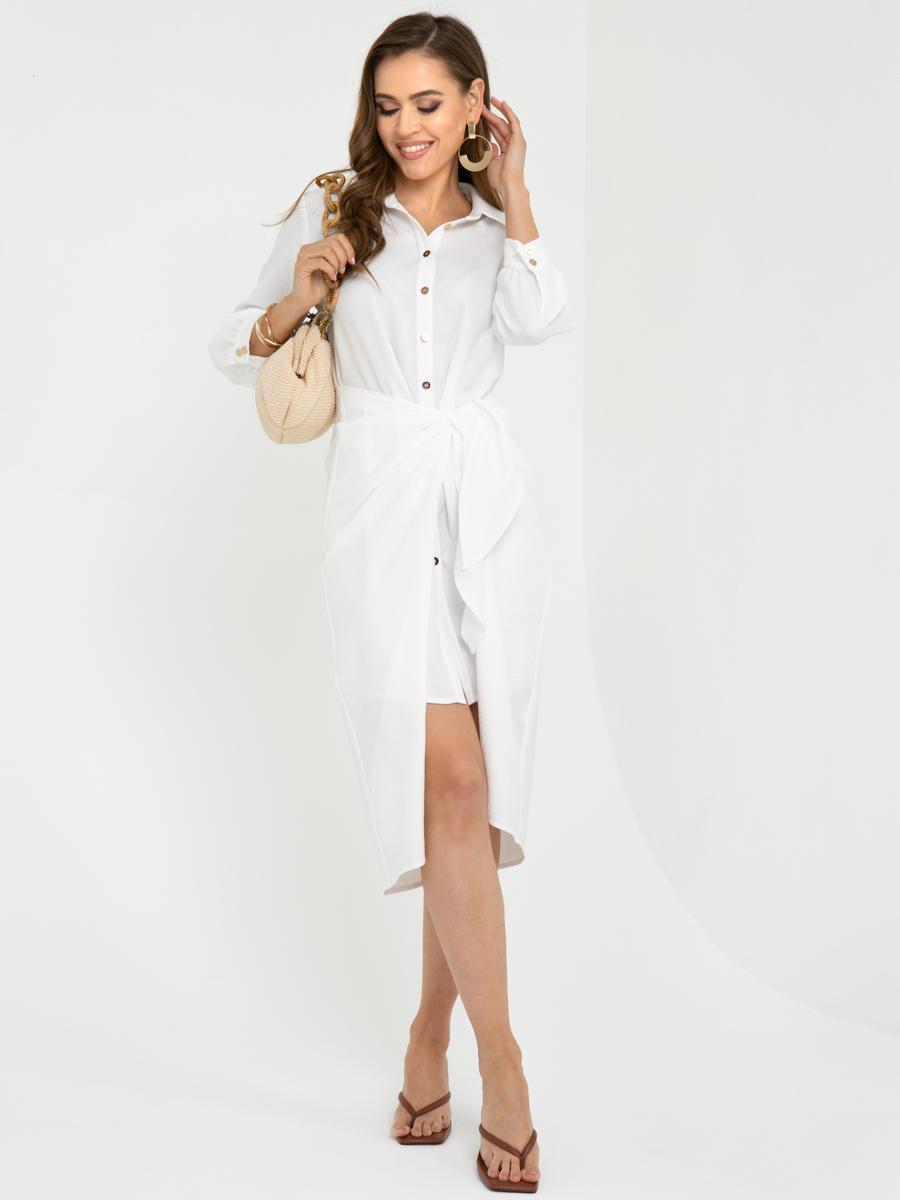 Платье L449 цвет: белый