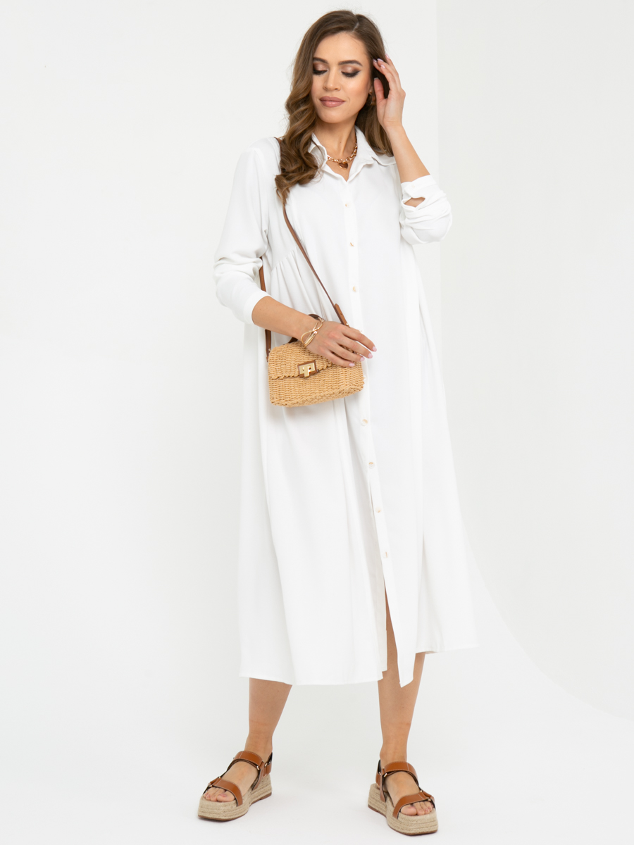 Платье L447 цвет: белый