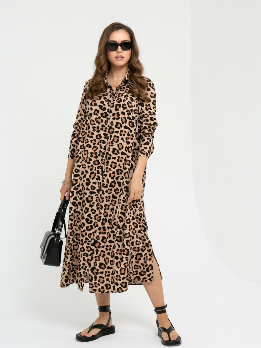 Платье L447 цвет: коричневый