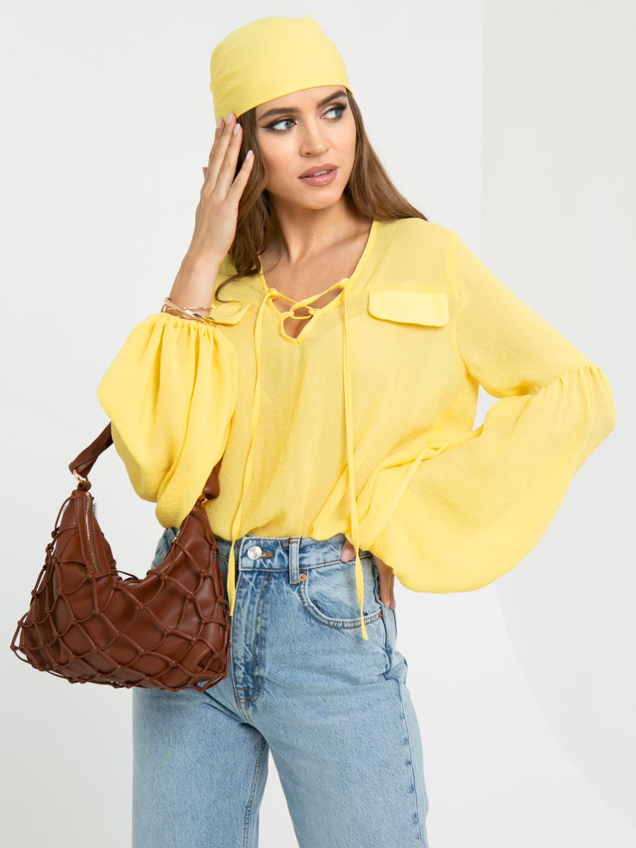 Блузка L454 цвет: желтый