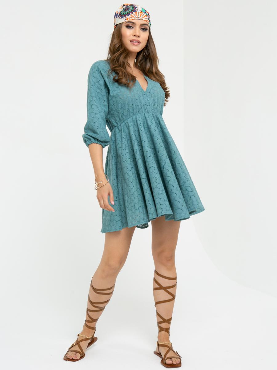 Платье L455 цвет: оливковый
