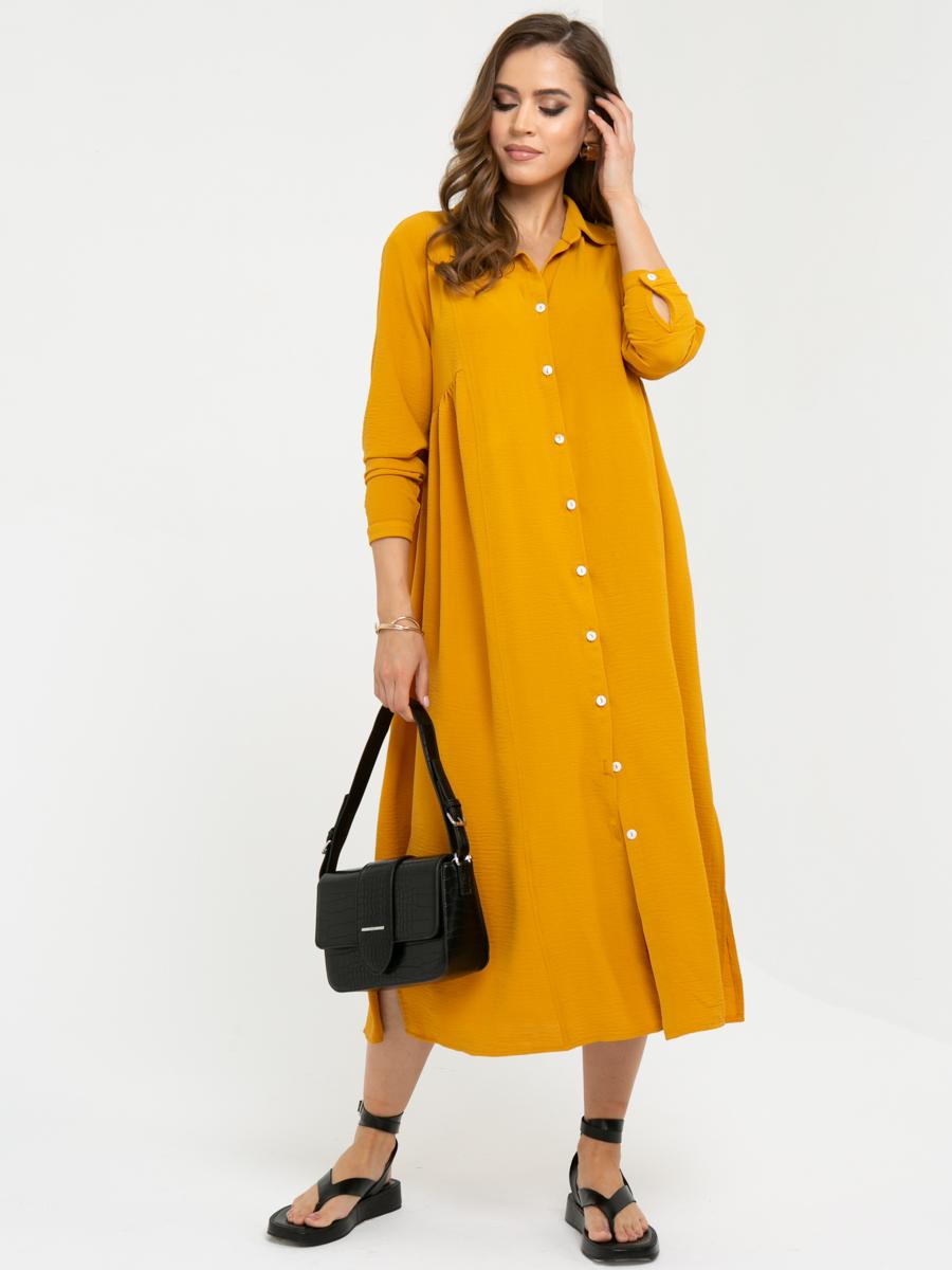 Платье L447 цвет: горчичный