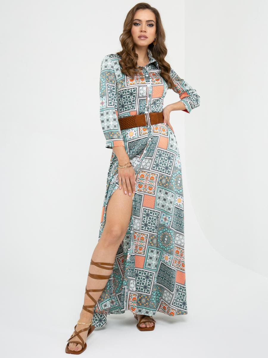 Платье L453 цвет: изумрудный